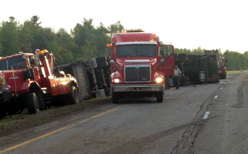 Highway 401 Augusta Tractor Trailer Crash OPP Jul2915 Edited