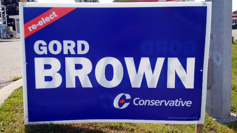 gord brown pc election sign file img 20150816 124843 edited