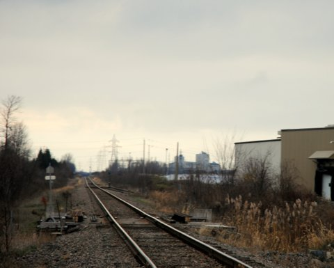 In this Nov. 24, 2015 photo, this section of railroad track, as seen from Parkedale Avenue in Brockville, Ont., has been sold to Via Rail. (Newswatch Group/Phillip Blancher)
